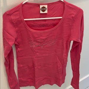 Harley Davidson Women's Prague Pink shirt